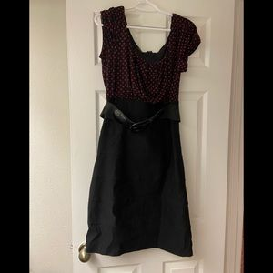 Maurices Red & Black Polkadot Size 11/12 Dress